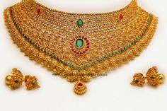 Uncut Diamond Bridal Choker Necklace |Extravagant beauty