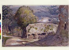 Landscape with barn, Shoreham, Kent. Samuel Palmer