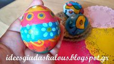 Ιδεες για δασκαλους: Πασχαλινά αυγά με μαρκαδόρους και λαδοπαστέλ Kai, Eggs, Easter Activities, Egg, Egg As Food, Chicken