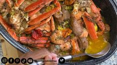 Treat Mom for Mother's Day! This Jerk Butter Seafood Boil is spicy & addictive and mom have been kraving seafood all week long. She told me😁 Crab And Shrimp Recipe, Crab Legs Recipe, Shrimp And Crab Boil, Seafood Boil Recipes, Shrimp Recipes, Cajun Seafood Boil, Dungeness Crab Recipes, Cooking Recipes, Healthy Recipes