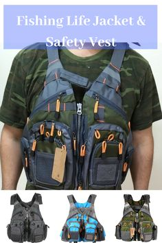 Outdoor Vest With Zippered Pockets, Multi Attachment Ladders And Accessory Loops Fishing Canoe, Fishing Vest, Fishing Tools, Fishing Life, Sport Fishing, Best Fishing, Best Camping Gear, Hiking Gear, Camping Ideas