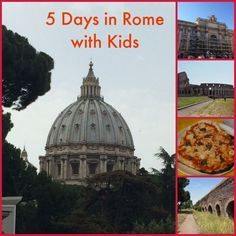 5 Days in Rome with Kids - make your travel planning easier with a sample itinerary for a family trip to Rome, Italy.