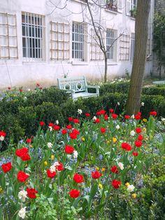 Flores, jardim, Delacroix, museu, Paris