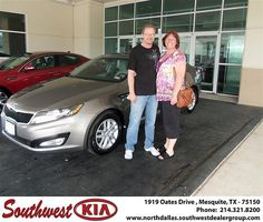 Southwest Kia of Mesquite would like to wish a Happy Anniversary to Anthony Bivins on your 2012 Kia Optima