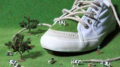 This shoe is made with PET canvas(100% recycle plastic bottle), tires for soles, hemp  for insole and laces. This picture is a Lawrence Chen Creation, Taiwan #PET-Flaschen #Fashion #Pashion #Urban #Mode