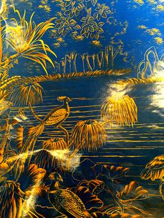 de Gournay le Bresil panoramic lacquer paper