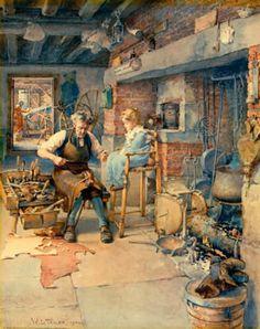 Disciplined Viktorianisch English Cobblers,schuhe Macher Childs Arbeits Reparaturwerkzeug Gefertigt Nach 1945