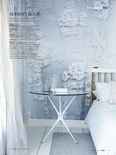 Lace Wallpaper from My Chic My Way..