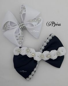 Buns for girls by Brisa Annas Ribbon Hair Bows, Diy Hair Bows, Diy Bow, Fabric Bows, Fabric Flowers, Princess Hair Bows, Barrettes, Hairbows, Toddler Bows