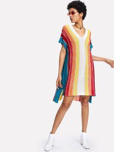 Shop Striped Step Hem Jumper online. SheIn offers Striped Step Hem Jumper & more to fit your fashionable needs.