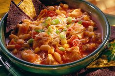 Cheesy Chicken Chili