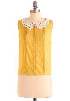 Presh as a Daisy Top | Mod Retro Vintage Short Sleeve Shirts | ModCloth.com