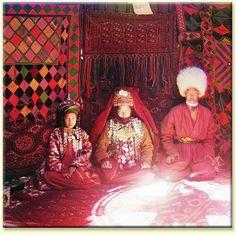 Inside a Turkmen Yurt, Central Asia, 1900