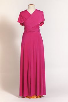 Pink Maternity Infinity Dress Maternity Satin Fucsia by mimetik