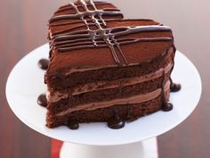 Schokoladenherz #kuchen #rührteig #Valentine