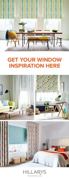 Large bay window?  Bedroom not finished?  Kitchen needs privacy?  We'll show you how to complete all the rooms in your home, with ideas and inspiration to get the look you'll love on your windows.