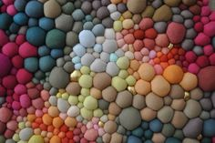 Textile Sculptures Created From Dozens Of Multicolored Orbs | Modern Art Movements To Inspire Your Design
