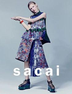 Julia Nobis, Australian model by Craig McDean for SACAI Spring/Summer Fashion Brand, Love Fashion, Runway Fashion, Spring Fashion, High Fashion, Fashion Beauty, Womens Fashion, Fashion Design, Haute Couture Style