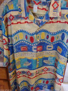 BURMA BIBAS Mens Shirt XL EXTRA LARGE 100% Silk Button Front Tropical Hawaii #hawaii #tropical #hawaiian