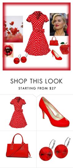 """""""Red # # $"""" by deyanafashion ❤ liked on Polyvore featuring GUINEVERE, A.N.A and L. Erickson"""