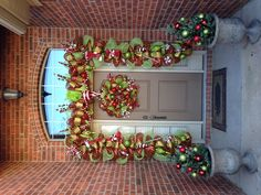 Christmas deco mesh garland and wreath (created by Brittani Kelley)