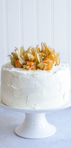 Vanilla Sponge Cake with Mascarpone Cream Frosting | eatlittlebird.com