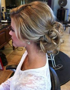 Curly Low Bun + Teased Crown
