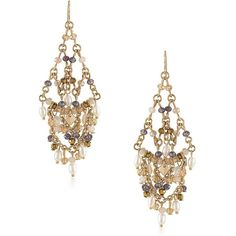 Carolee Battery Park 3MM Freshwater Pearl Chandelier Earrings ($75) ❤ liked on Polyvore featuring jewelry, earrings, multi, carolee jewelry, carolee, freshwater pearl jewelry, chandelier earrings and chandelier jewelry
