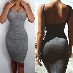 Hot Sale women Package Hip Dress Bandage Bodycon Mini Dress High Waist Slim Solid Gray Casual Dress Size S Color gray Tight Dresses, Sexy Dresses, Cute Dresses, Fashion Dresses, Prom Dresses, Sweater Dresses, Mini Dresses, Dress Prom, Dresses Uk