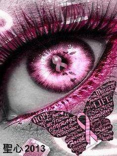 Pink ribbon a power eye a len magic pink Breast Cancer Quotes, Breast Cancer Survivor, Breast Cancer Awareness, Cancer Tattoos, Go Pink, Cancer Support, Awareness Ribbons, Eye Art, Eyes