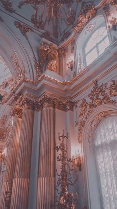 Aesthetic Light, Gold Aesthetic, Classy Aesthetic, Aesthetic Vintage, Aesthetic Pastel Wallpaper, Aesthetic Backgrounds, Aesthetic Wallpapers, Baroque Architecture, Beautiful Architecture