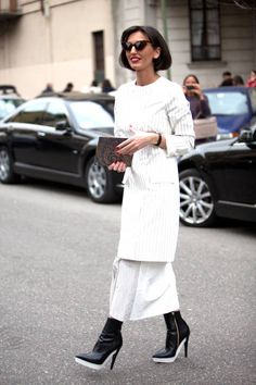Street Style Photos Milan Fashion Week - Fall 2014 Street Style PIctures MFW - ELLE