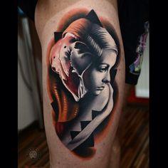 Thigh Sad Girl Tattoo