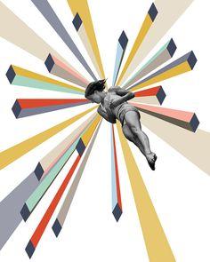 Dive -  11 x 14 Geometric Art Print on Etsy, $50.00