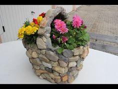 DIY Aus einem alten und kaputten Einkaufskorb,wird eine wunderschöne Deko für Balkon/potted/saksı - YouTube