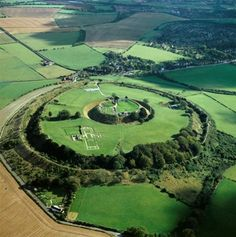 Old Sarum. England Click further in for some interesting info on Ley lines and Salisbury. Architecture Antique, Ley Lines, English Heritage, Aerial View, Great Britain, Archaeology, Places To See, Scenery, Images