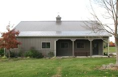 Visit the Lester Buildings Project Library for pole barn pictures, ideas, designs, floor plans and layouts. Metal Building House Plans, Morton Building, Building Homes, Pole Buildings, Shop Buildings, Pole Barns, Pole Barn Homes, Building Systems, Building Ideas