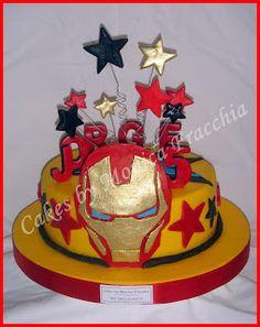TORTA DECORADA DE IRONMAN | TORTAS CAKES BY MONICA FRACCHIA