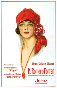 Spanish 1920s wine ad. Artist? (Looks like F. Earl Christy's work, but not sure.??)