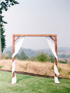 Simple wooden arbor: http://www.stylemepretty.com/washington-weddings/mt-vernon/2016/06/29/an-around-the-world-romance-led-to-this-washington-wedding/ | Photography: Brittany Mahood - http://www.brittanymahood.com/