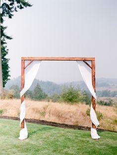 Simple wooden arbor: http://www.stylemepretty.com/washington-weddings/mt-vernon/2016/06/29/an-around-the-world-romance-led-to-this-washington-wedding/ | Photography: Brittany Mahood - http://www.brittanymahood.com/