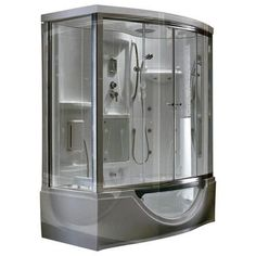 Steam Planet - Modern Steam & Shower Enclosure with Whirlpool Bathtub, Multi Body Message Water Jets, Radio & Aromatherapy - MK557R - Home Depot Canada