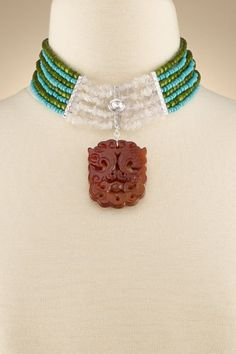 fiona collar collar necklace turquoise wood bead collar love the composition