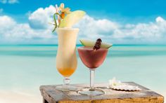 Coktail Summer Cocktails on The Beach hd - Sea, Cocktail, Summer, Glass, Melon, Cherry, Summer Cocktail, Beach, Nature, See