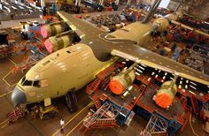 Globemaster III are assembled in Boeing's Long Beach plant in The plant has an estimated workers. Cargo Aircraft, Military Aircraft, C 17 Globemaster Iii, Star Ship, Long Beach, Airplanes, Square Feet, Military Vehicles, Air Force