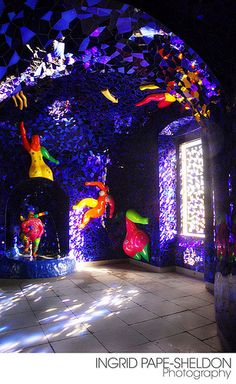 The Grotto. Located in Germany, this is the work of Niki de Saint Phalle.