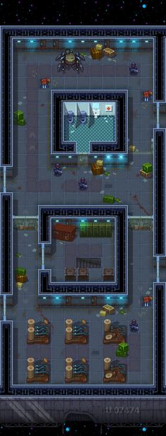 Space station Part One. Pixel art style. All the tiles are arranged on different layers. All shadows can be turned off. Tile size 64×64. you can make a larger or smaller size. Use nearest neig...