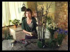 Ботаника. Композиция в стеклянной вазе - YouTube