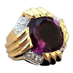 1stdibs - DAVID WEBB Gold Platinum Amethyst Diamond Ring explore items from 1,700  global dealers at 1stdibs.com