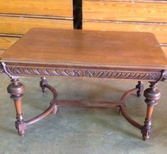 Antique Tiger Oak Dinner Table or Library Table with Lion Heads Original Finish | eBay